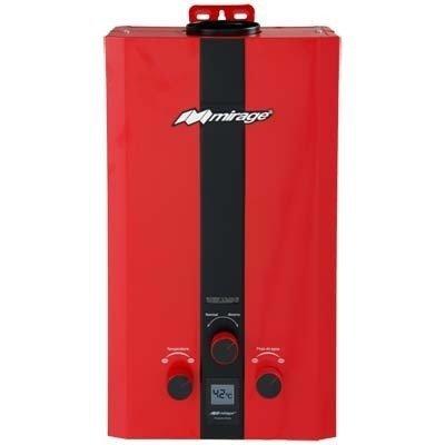 Calentador de agua instantáneo para 1 servicio gas LP Flux6L, rojo