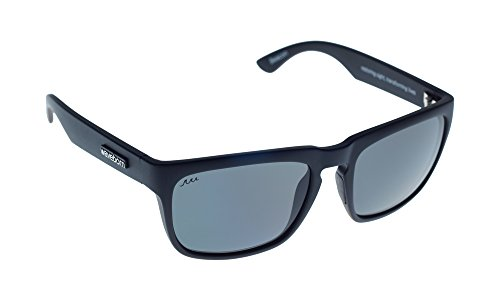 Waveborn Sunglasses Beacon Sunglasses, Matte Black, Gray Polarized - Ray Warranty Lost Bans