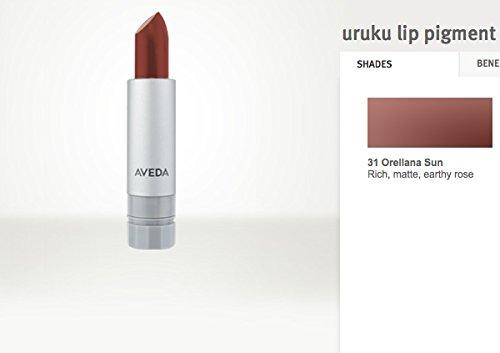 Aveda Lip Color (AVEDA Uruku Lip Pigment Lipstick Rich Matte Earthy Rose RV$17 #31 ORELLANA)