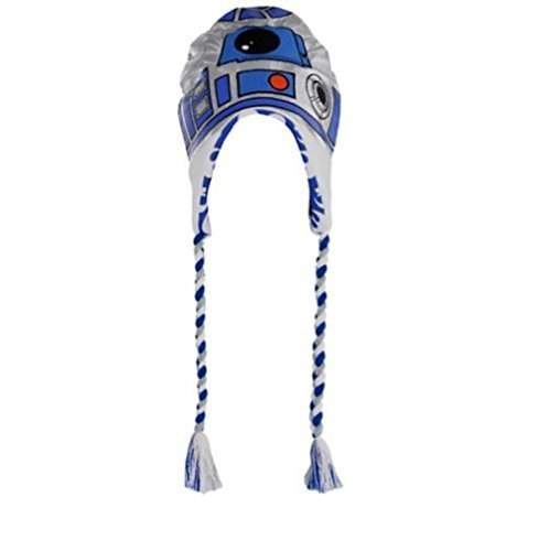 R2-D2 ~ Adult Size ~ Peruvian Winter Hat - Fleece Lined -