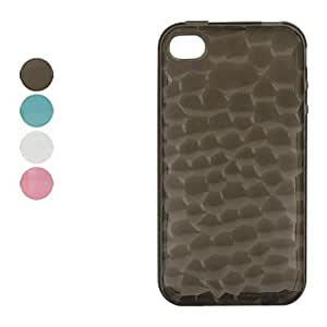 xiao Tortoiseshell Pattern TPU Case for iPhone 4 , Transparent