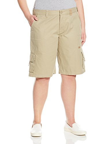 (Dickies Women's Plus Size 11-Inch Relaxed Cargo Short, Rinsed Desert Sand, 20W)