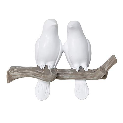 Sweet Branch (Birds On Tree Branch Decor Wall Mounted Coat Rack with Hooks for Coats, Hats, Keys, Towels (2 Birds))