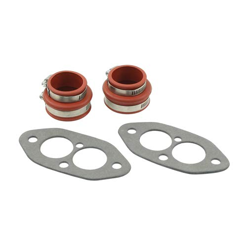 (EMPI 3230 Dual Port Installation Kit with Intake Gaskets Intake Boots and Intake Clamps VW Dune Buggy Bug Ghia Thing Trike Baja Bus Sand Rail)