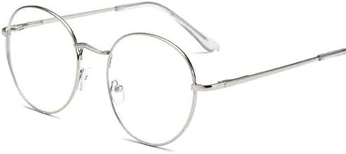 老眼鏡、メタルラウンド眼鏡男性女性近視メガネはメガネ生徒近視眼鏡を完成-1.5-1.5-2.5-3.3.5 Collocation (Eye Prescription : 400, Rahmen-Farbe : Silber)