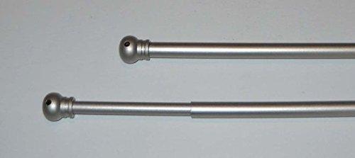 Confezioni Giuliana 2 Bacchette Tende 60x80 Bacchetta Asta aste Tenda in Metallo Argento Satinato
