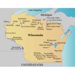 Garmin MapSource LakeMaster Wisconsin Freshwater Maps microSD Card