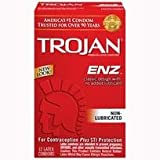 Bundle Package Of Trojan Enz Non-Lubricated 12 Pack And a Bottle of 1.7 -oz Personal Silicone Lubricant