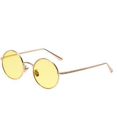 Amoy Redondo Gafas Hombre y para 1 B Mujer F Sol Vintage B de Unidad Marco rXg5xwrq