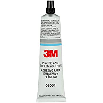3M Plastic and Emblem Adhesive, 08061, 5 oz Tube