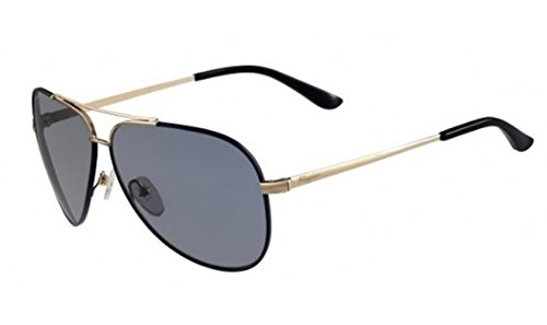 Sunglasses FERRAGAMO SF131SG 727 SHINY GOLD W/BLUE - Aviator Sunglasses Ferragamo