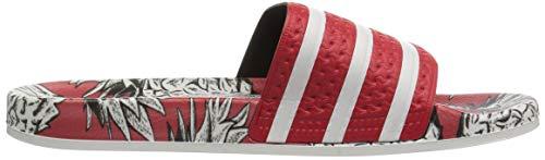 Scarlet Off Sandals Women's adidas Adilette White Originals Scarlet Slide XnYw6UR