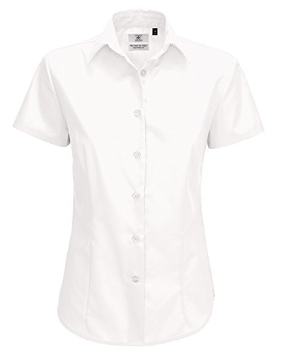 EX-BHS Twinpack Girls Plain School Shirt Blouse Short Sleeve Regular Fit Easy Care Ages 4-16y