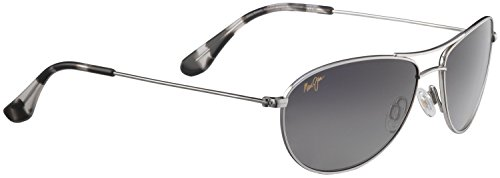 Maui Jim Baby Beach 245 Sunglasses, Silver, - Jim Maui Baby Silver Beach Sunglasses