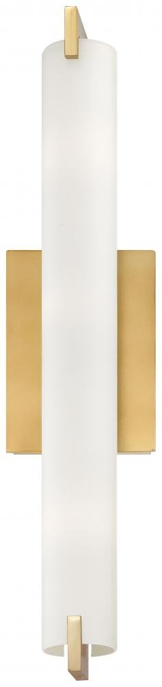 George Kovacs P5044-248 Tube 3-Light Honey Gold Wall Sconce