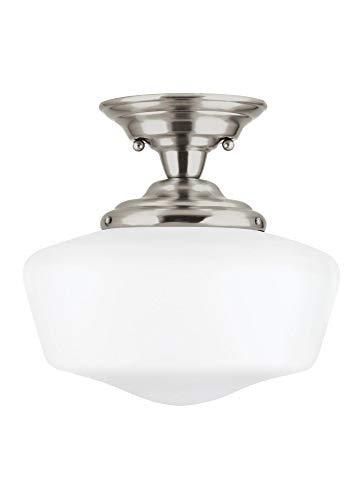 (Sea Gull Lighting 77437EN3-962 Large One Light Semi-Flush Mount Brushed Nickel)