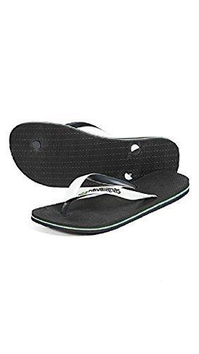 Havaianas Men's Brazil Mix Sandals, Black/White, 43/44 EU (11.5 D(M) US - Havaianas Black Brazil