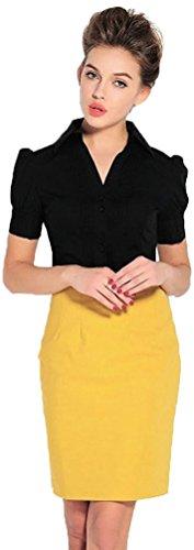 名詞囲い予測子Mir?Mira(ミル?ミラ)はみ出る裾の悩みを解消!ボディシャツ 半袖 ツナギ ブラウス OL 通勤服 flfl