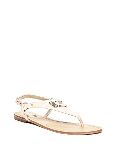 G by GUESS Karmin Faux-Leather Sandals Rose (Sandals Guess Patent Leather)