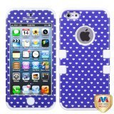(MYBAT IPHONE5HPCTUFFIM038NP Premium TUFF Case for iPhone 5 - 1 Pack - Retail Packaging - Purple Vintage Heart Dots/Solid White)