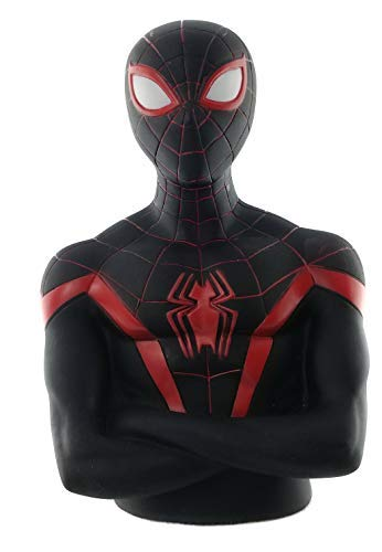 Marvel Spider-Man Black Suit Toy Coin Bank for Toddlers, Kids and Preschoolers.