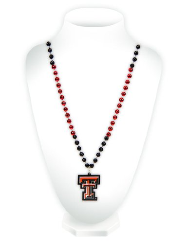 Raider Red Costume (NCAA Texas Tech Red Raiders Beads with Logo Medallion)