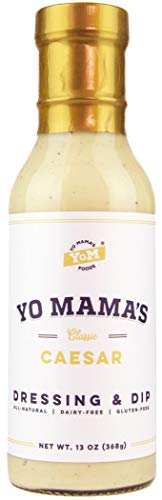 Low Carb Caesar Salad Dressing and Dip by Yo Mamas Foods | (1) Large 13 ounce Bottle | Gluten Free, All Natural, and Dairy Free!