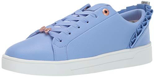 Ted Baker Women's Astrina Sneaker, mid Blue Leather 9 Medium US ()