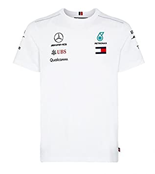 Mercedes AMG F1 Team Driver Puma T-Shirt Blanc Officiel 2018