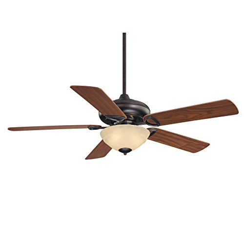 Savoy House 52-851-5RV-13 Ceiling Fan with Cream Marble Shades, English Bronze Finish