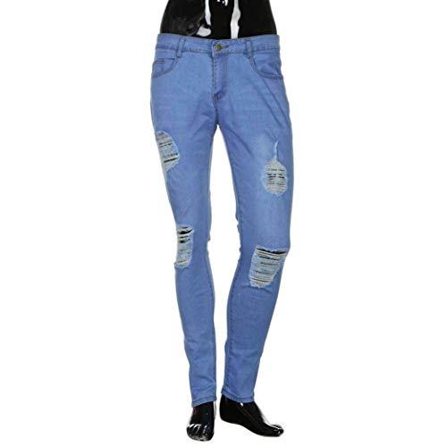 Strappato Attillati Fit Pantaloni Dritti Strappati Uomo Aderenti Denim Jeans Slim Colour Pants 4Zwp8qE
