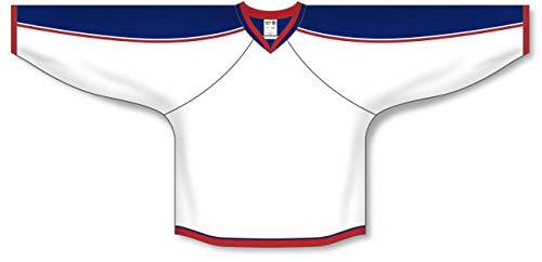 - Customization Depot 2010 Columbus White Taper Neck with Underlay Plain Blank Hockey Jerseys