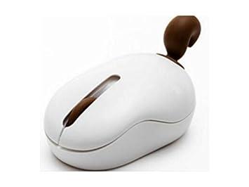 LridSu Lovely Pet Squirrel Funny Tail Ratones inalámbricos Ratón para PC Ordenador portátil (Blanco + Cofre): Amazon.es: Electrónica