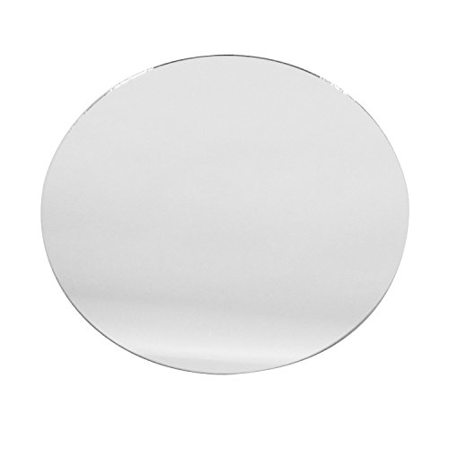 Round Glass Mirror Wedding Banquet Table Centerpieces, Smooth edges (Sets of 12) -