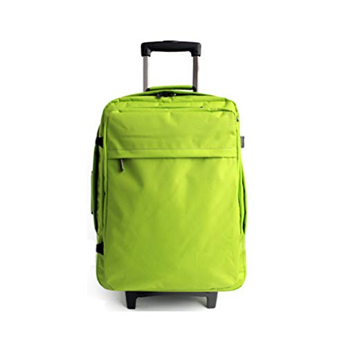 (Yilian Lvxingbao Oxford Cloth Backpack 26in Travel Bag Light Luggage Trolley case Airborne Chassis Package Travel Bag (Color : Green))