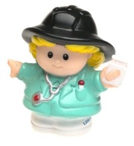 Little People EMT Nurse (2001) - Replacement Figure - Classic Fisher Price Collectible Figures - Loose Out Of Package (OOP) - Zoo Circus Ark Pet Castle