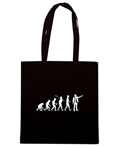 T-Shirtshock - Bolsa para la compra OLDENG00481 evolution gangster Negro