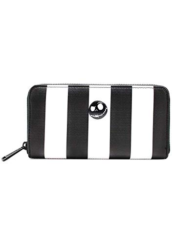 Loungefly Nightmare Before Christmas Womens Striped Zip-Around Wallet