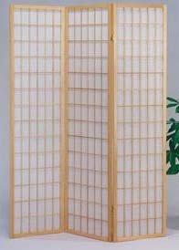 (The Furniture Source 3 Panel Natural Color Wood Shoji Screen/Room Divider, Natural)