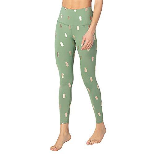 Beyonds Women High Waist Soft Yoga Pants Weight Loss Workout Yoga Leggings Green