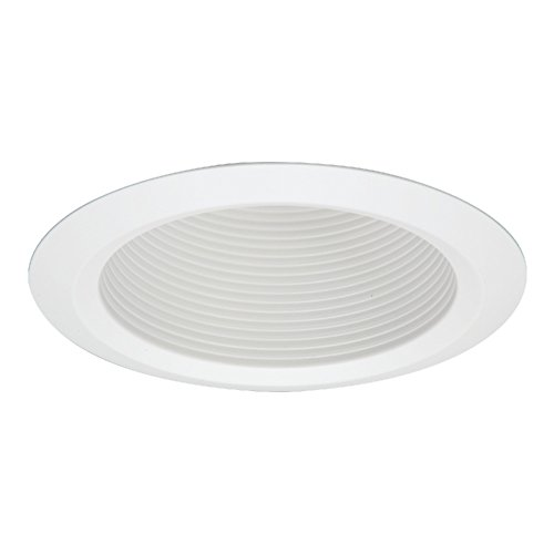 White Trims 5 Inch (Halo 5125WB Recessed Self-Flanged White Trim with Full Cone White Baffle, 5