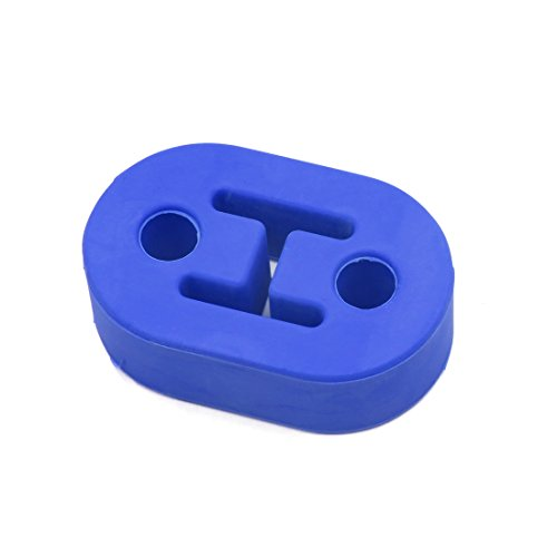 uxcell Blue 1/2 Inch Dia Holes Car Rubber Exhaust Mount Hanger Bracket Bushing Support -