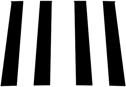 Rvinyl Rtrim Pillar Post Decal Trim for Hyundai Elantra 2011-2016 Black Matte