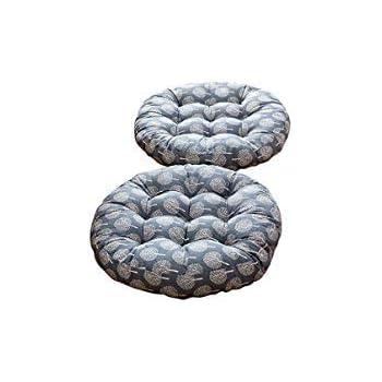 MeMoreCool Modern Simple Round Floor Cushion Gray Arrows Set of 2 Futon Round Seat Cushion Window Pad Chair Cushion Sofa Pillow 16 incheses