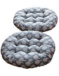TMJJ Cotton & Linen Round Floor Pillow Cushion Japanese Style Futon Seat Cushion Thicken Chair Wave Window Pad 21