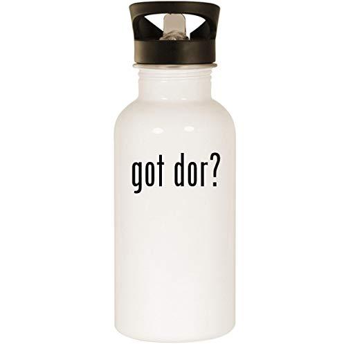 (got dor? - Stainless Steel 20oz Road Ready Water Bottle, White)