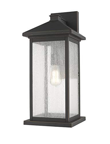 Z-Lite 531BXL-ORB 1 Light Outdoor Wall Sconce, Oil Rubbed Bronze