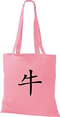 Shirtinstyle - Cotton Fabric Bag For Women - Classic Pink