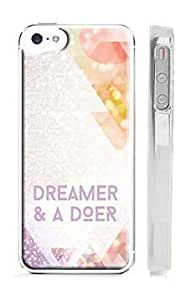 Dreamer and a Doer - Quote Pastel Geometric Pattern iPhone 5 Case - Motivational, Postitive Thinking Triangle iPhone 5s Case
