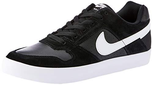 NIKE Men's Sb Delta Force Vulc Black/White - Anthracite Ankle-High Leather Skateboarding Shoe 10M